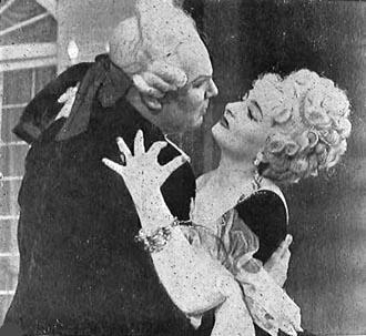 Mirka Klarić (Manon Lescaut)i Piero Filippi (Chevalier des Grieux), HNK u Zagrebu, 1958.