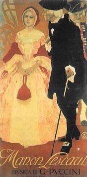 Manon Lescaut, plakat s praizvedbe